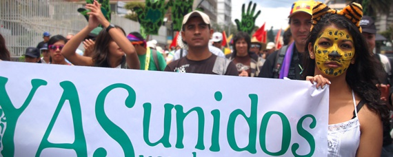 Demonstration für den Yasuní Regenwald