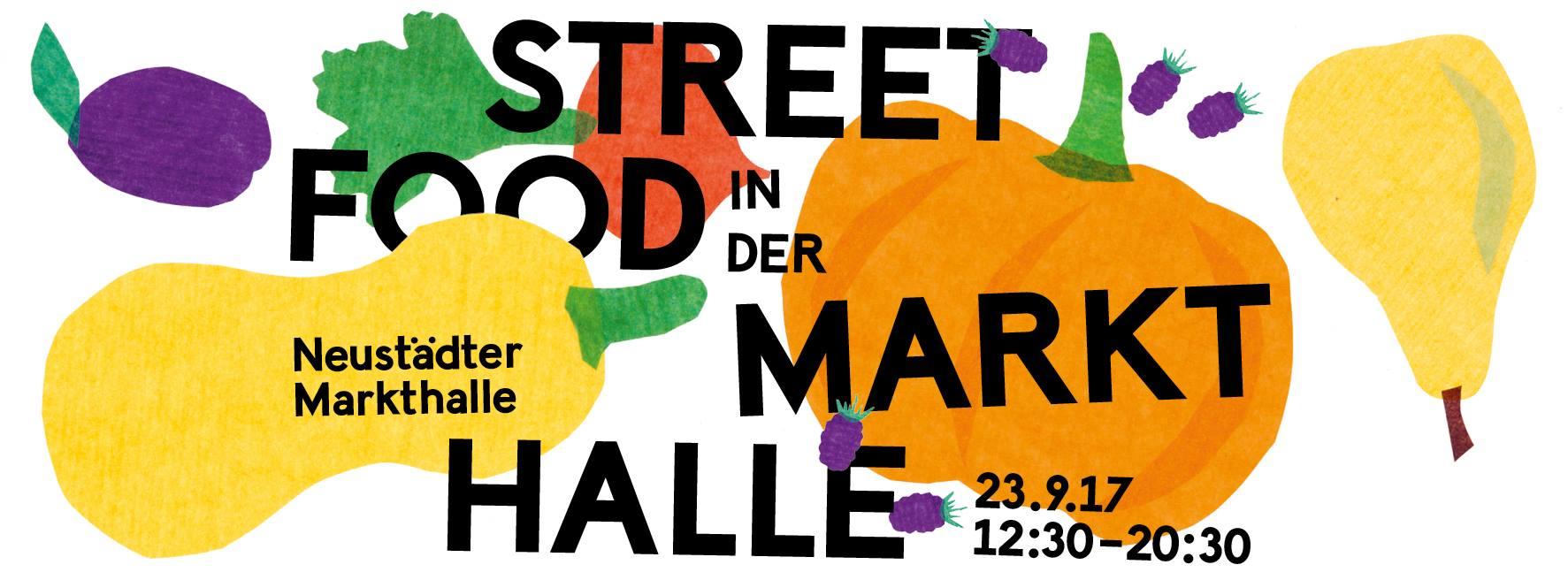 Plakat Herbst-Streetfoodmarkt.