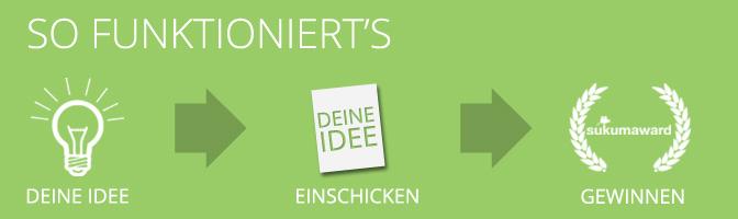 Award Banner: Deine Idee - Einschicken - Gewinnen