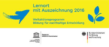 BNE-Auszeichnungslogo Lernort mit Auszeichnung 2016