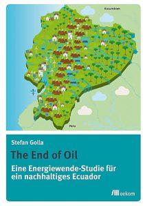 Es handelt sich um ein Buchcover von Stefan Golla zur Energiwende, bei der eine Landkarte von Ecuador abgebildet ist.