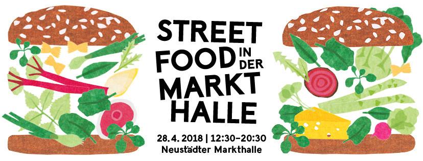 Streetfood in der Markthalle im Frühling 2018